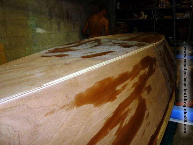 Stratification of the woodenboat - epoxy, fiberglass and ...