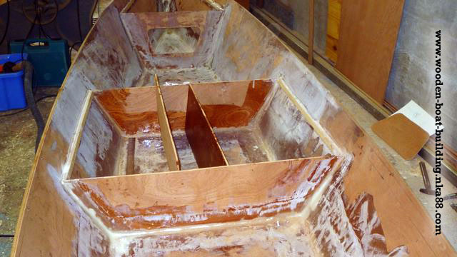 Cutting and fitting gunwale of the boat in exotic wood ...