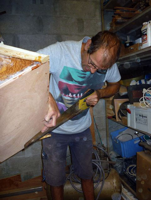 the transom for the electric motor and rudder : DIY Small wooden boat ...